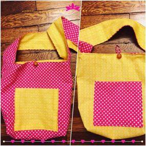 pink polka dots bag