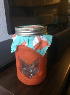 fox mason jar