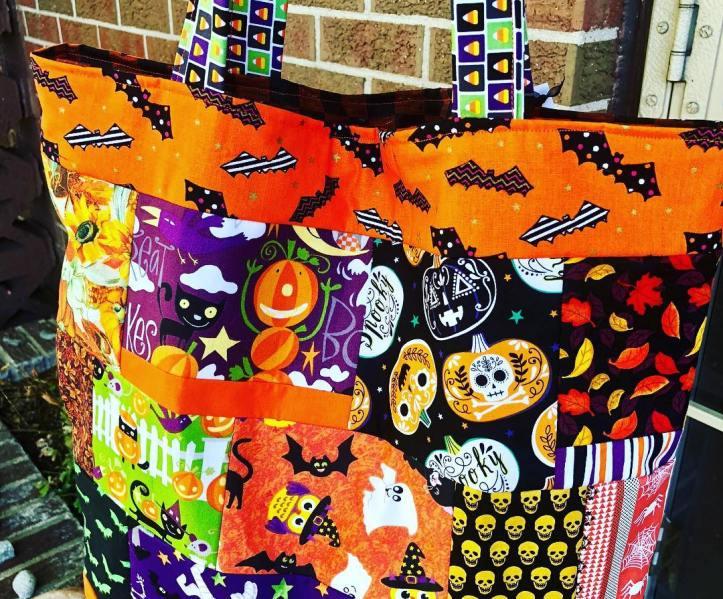 halloween patchwork